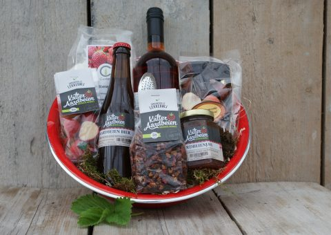 Aardbeien verrassing cadeaupakket