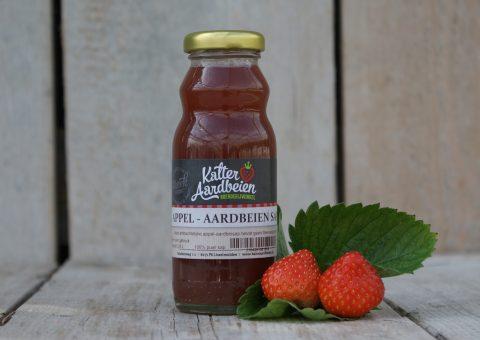 Kalter appel aardbeien sap