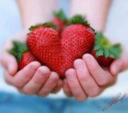 Valentijnsdag aardbeienhartjes