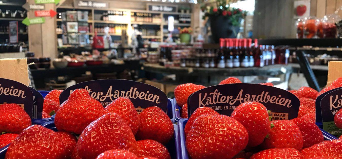 Kalteraardbeien winkel omslagfoto